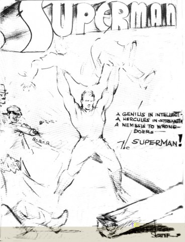 Superman early sketch
