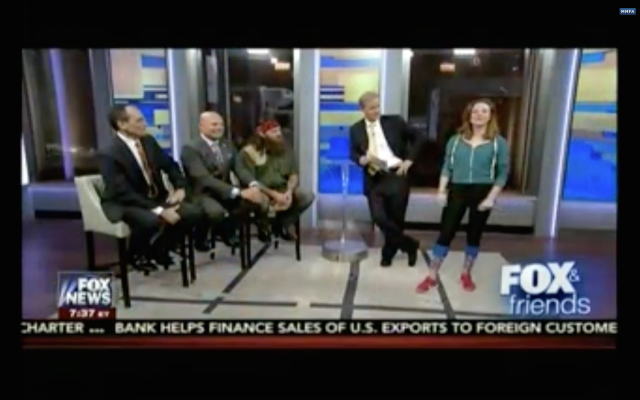 Fox and Friends judging a woman's leggings.