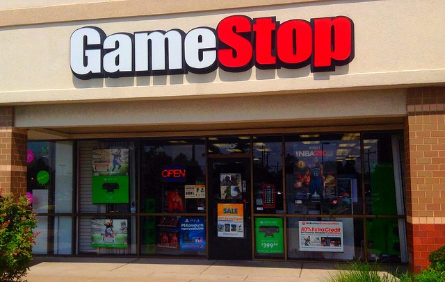 GameStop video game storefront