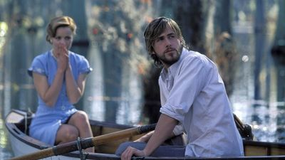 Allie and Noah in a boat.