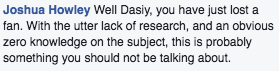 Daisy comment 1