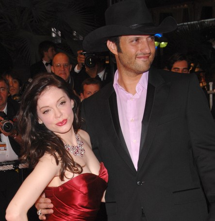 "Rose McGowan & Robert Rodriguez at screening for ""Death Proof"" at the 60th Annual International Film Festival de Cannes. May 22, 2007 Cannes, France. 2007 Paul Smith / Featureflash"