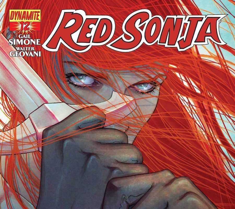 Jenny Frison's cover for Red Sonja #12, from Dynamite