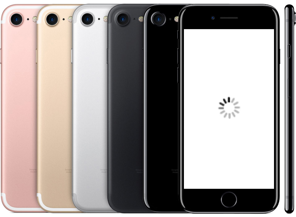 iPhones with loading symbol