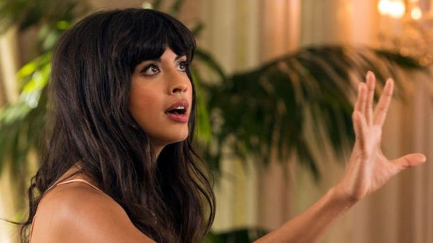"image: NBC Jameela Jamil in a scene from NBC's ""The Good Place"""