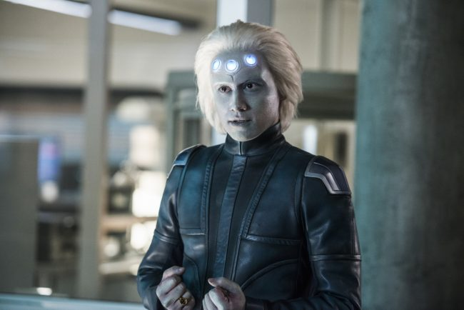 """image: Diyah Pera/The CW Supergirl -- """"Legion of Superheroes"""" -- Image Number: SPG310a_0403.jpg -- Pictured: Jesse Rath as Brainiac 5 -- © 2018 The CW Network, LLC. All rights reserved."""