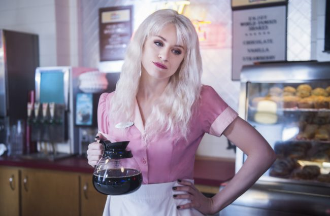 """image: Diyah Pera/The CW Supergirl -- """"Fort Rozz"""" Pictured: Brit Morgan as Leslie Willis/Livewire -- © 2018 The CW Network, LLC. All rights reserved."""