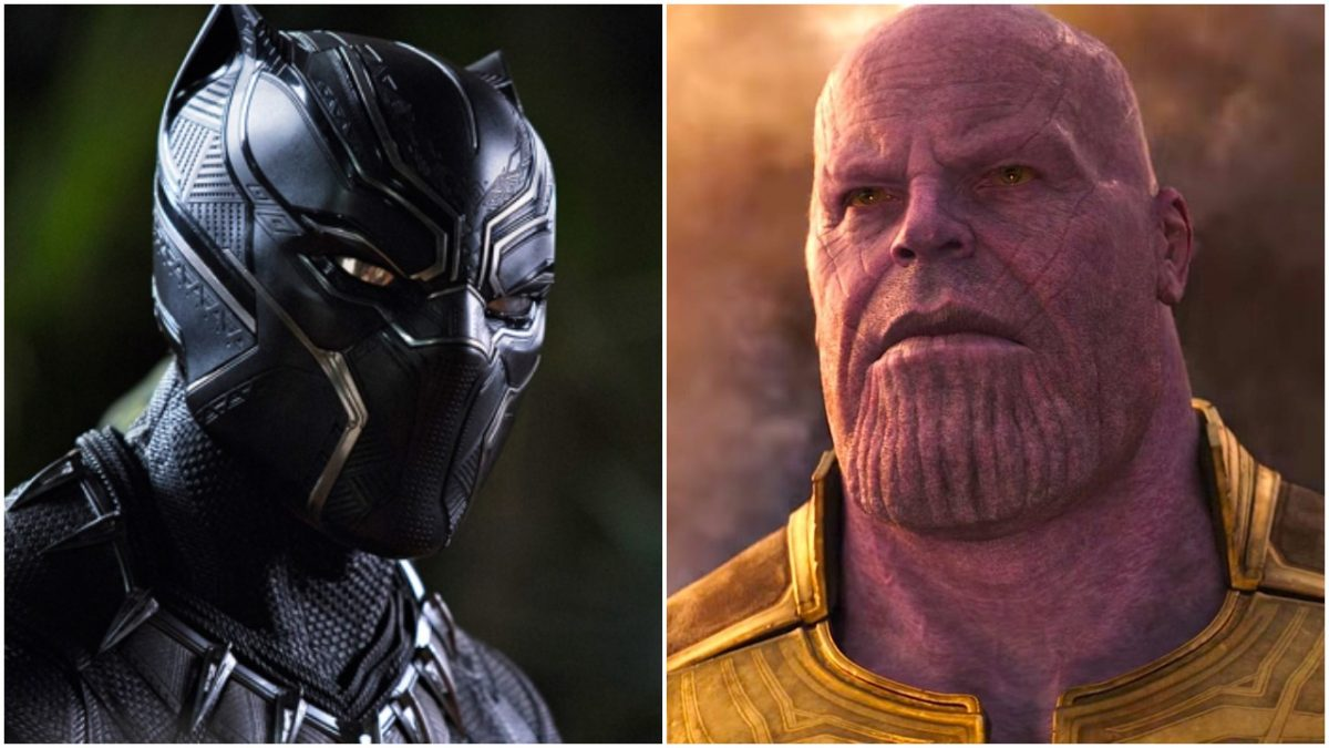 Black Panther and Thanos
