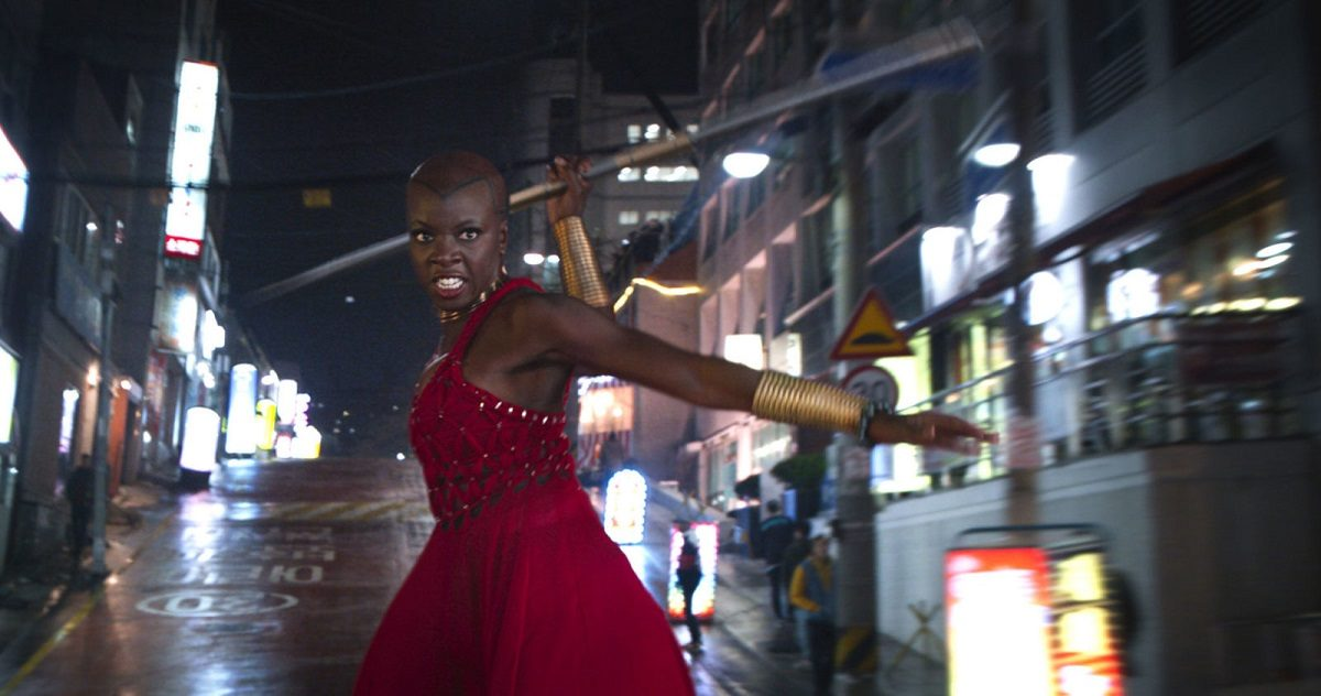 "Danai Gurira as Okoye in ""Black Panther"" (Credit: Marvel Entertainment)"
