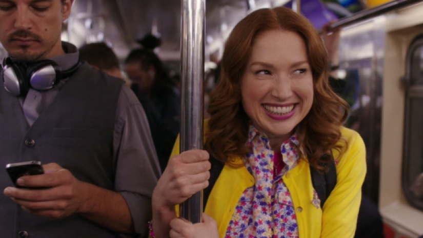 "Ellie Kemper as Kimmy Schmidt on Netflix's ""The Unbreakable Kimmy Schmidt"""