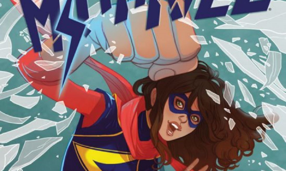 """Kamala Khan on the cover of """"Ms. Marvel"""" #13, drawn by Marguerite Sauvage"""