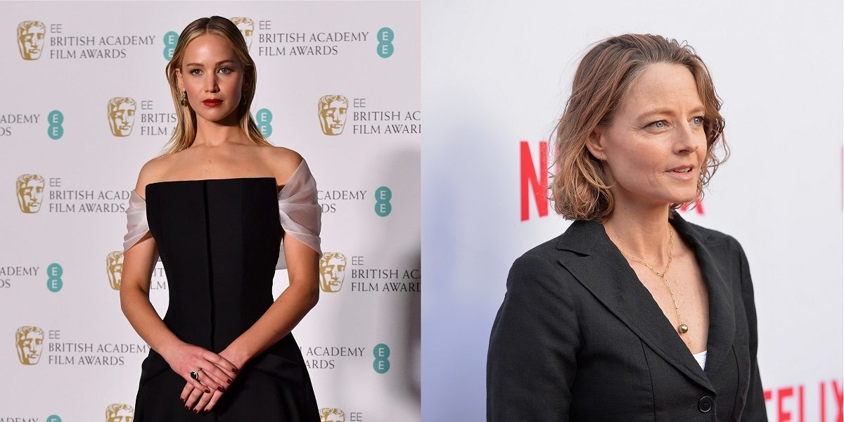 Jennifer Lawrence (Photo credit should read BEN STANSALL/AFP/Getty Images) and Jodie Foster (Credit Shutterstock)