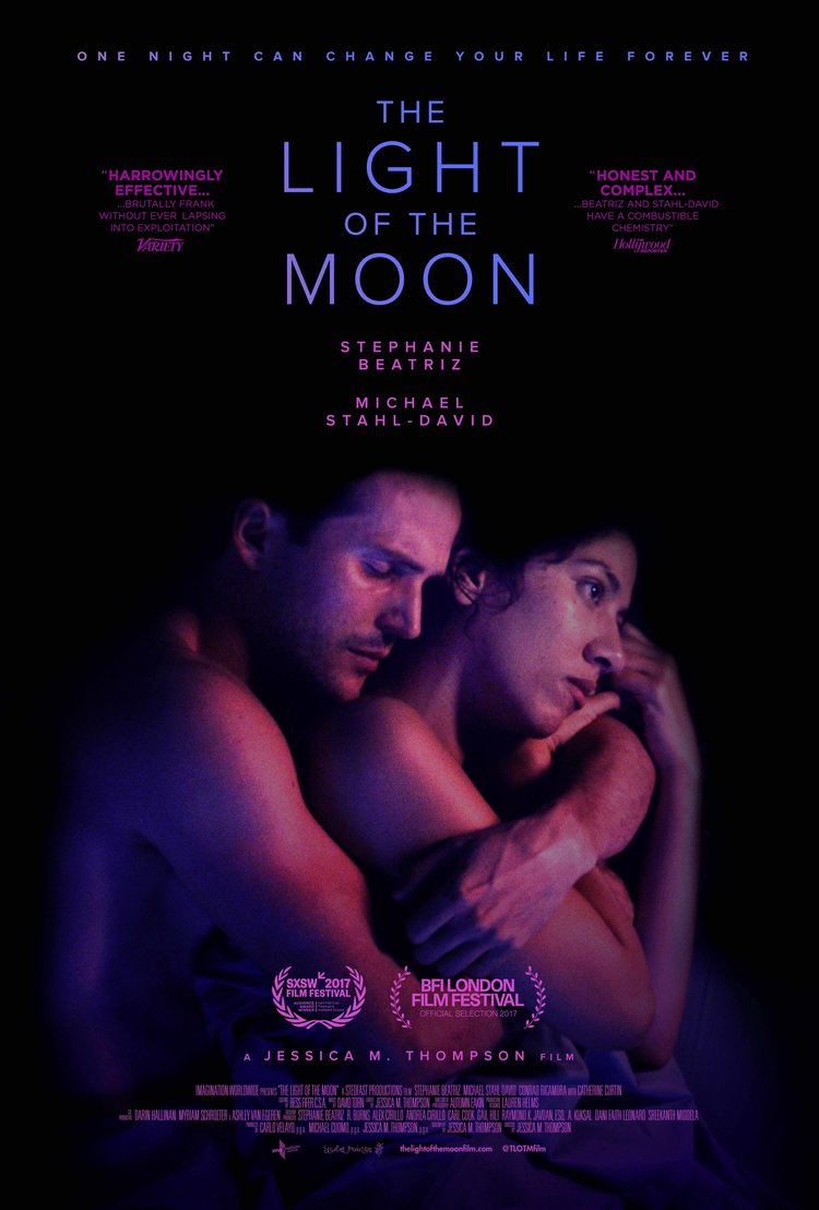 """Theatrical poster for """"The Light of the Moon"""" starring Stephanie Beatriz and Michael Stahl-David"""