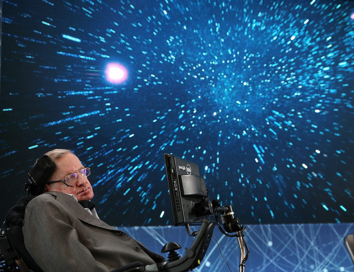 "Stephen Hawking at New Space Exploration Initiative ""Breakthrough Starshot"" Announcement"