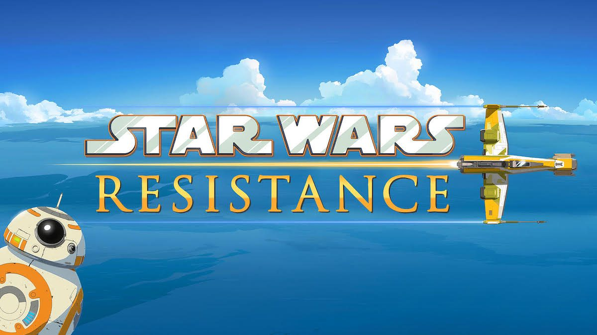 star wars resistance title with BB8