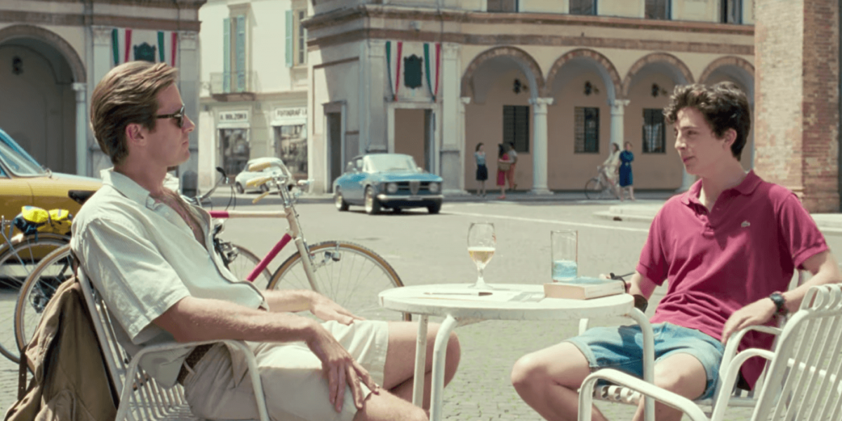 Armie Hammer and Timothée Chalamet in 'Call Me By Your Name'