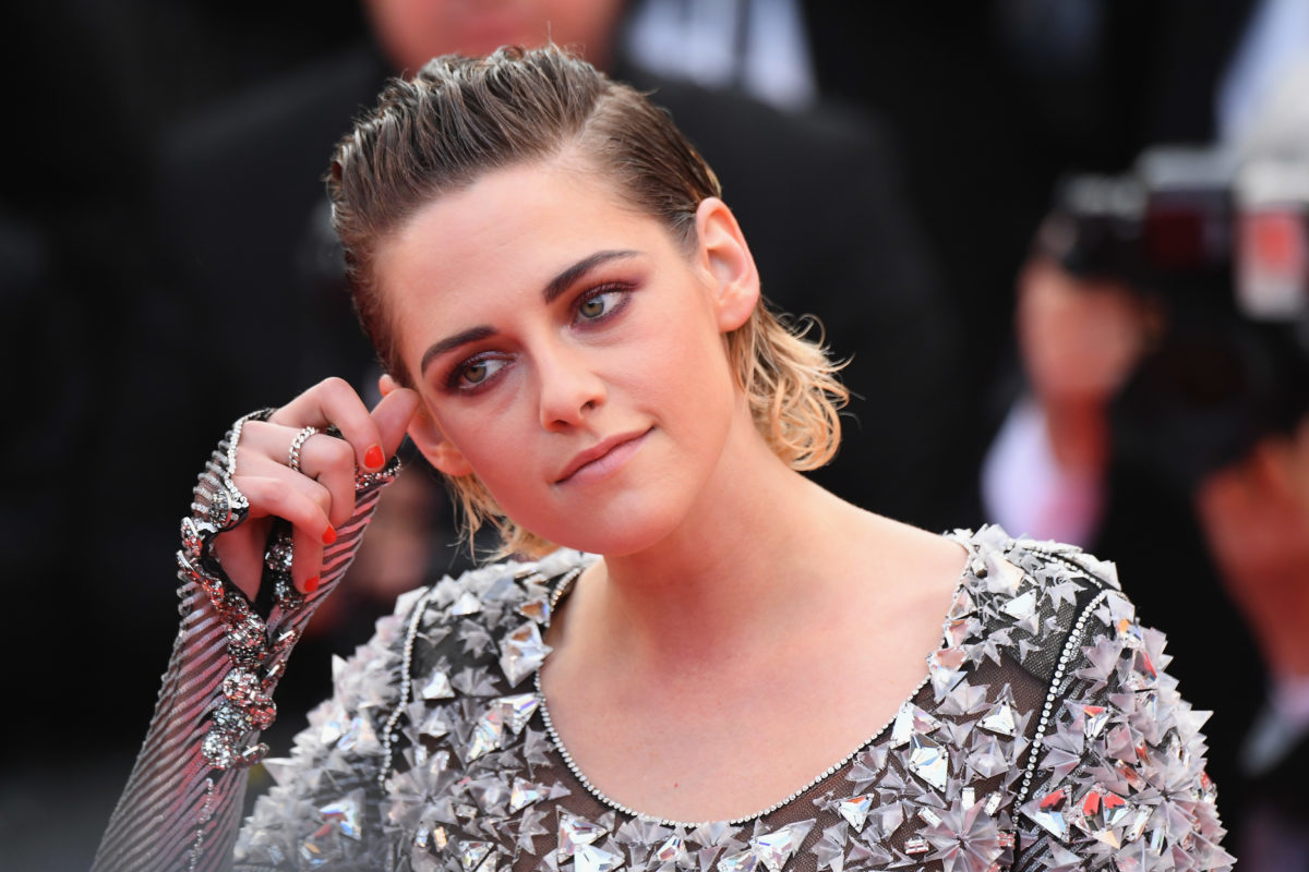 """CANNES, FRANCE - MAY 14: Jury member Kristen Stewart attends the screening of """"Blackkklansman"""" during the 71st annual Cannes Film Festival at Palais des Festivals on May 14, 2018 in Cannes, France."""