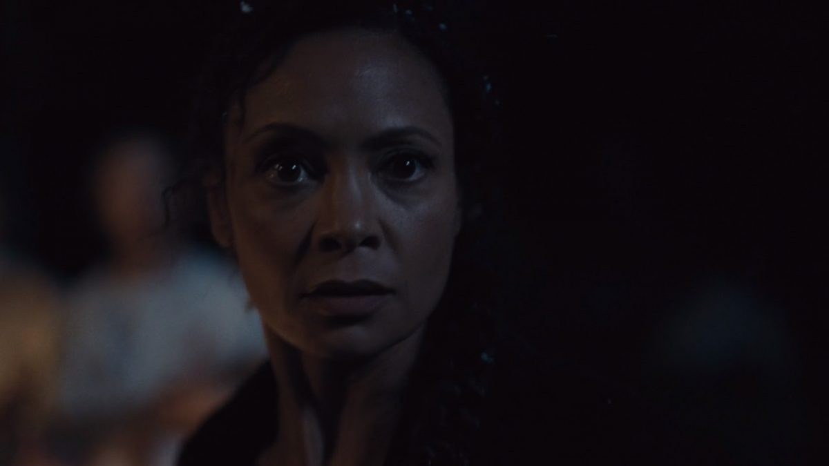 Thandie Newton as Maeve in a scene from Westworld on HBO
