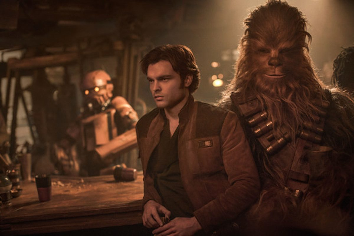 """Han Solo and Chewbacca in 'Solo: A Star Wars Story"""""""