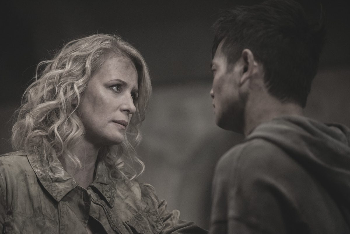 Samantha Smith as Mary Winchester and Osric Chau as Kevin Tran in The CW's Supernatural