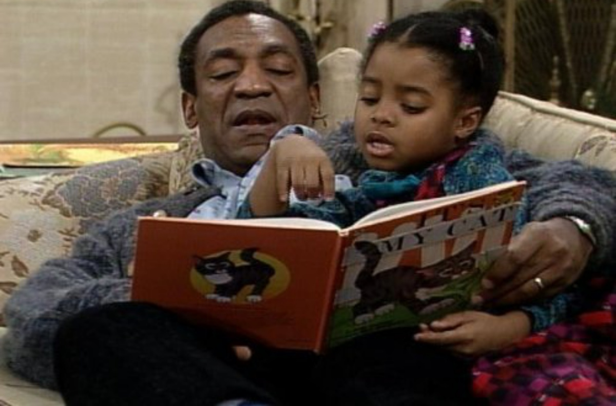 Bill Cosby and Keshia Knight Pulliam in The Cosby Show (1984)