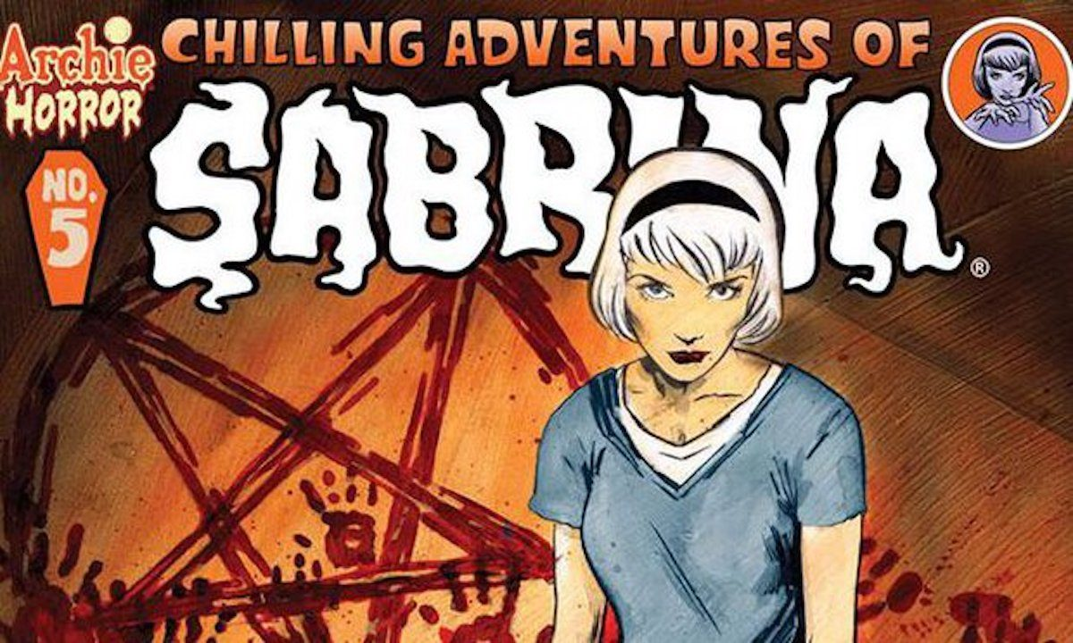 chilling adventures of sabrina comic cover