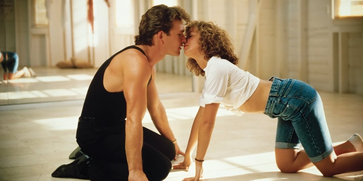 Baby (Jennifer Grey) and Johnny (Patrick Swayze) find summer romance in Dirty Dancing