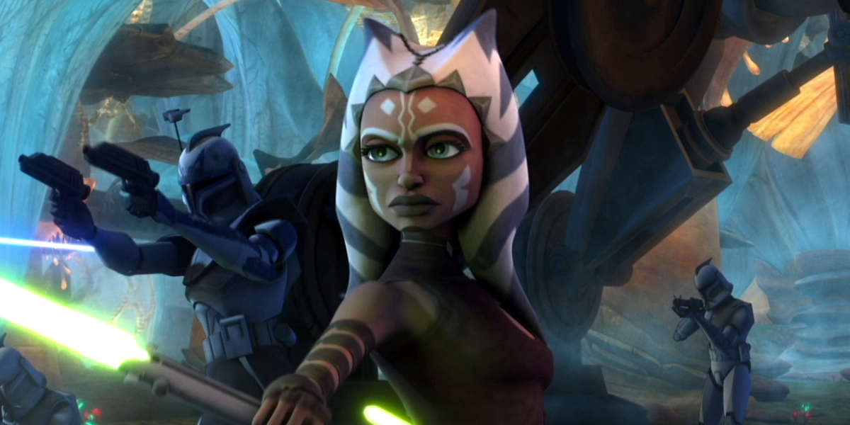 Ahsoka Tano is ready to fight in Star Wars: The Clone Wars