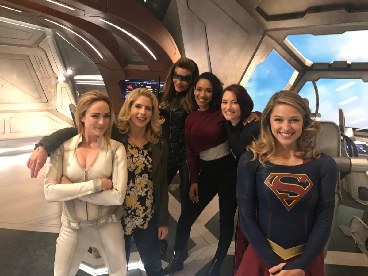 women of DC TV's Arrowverse on The CW pose together