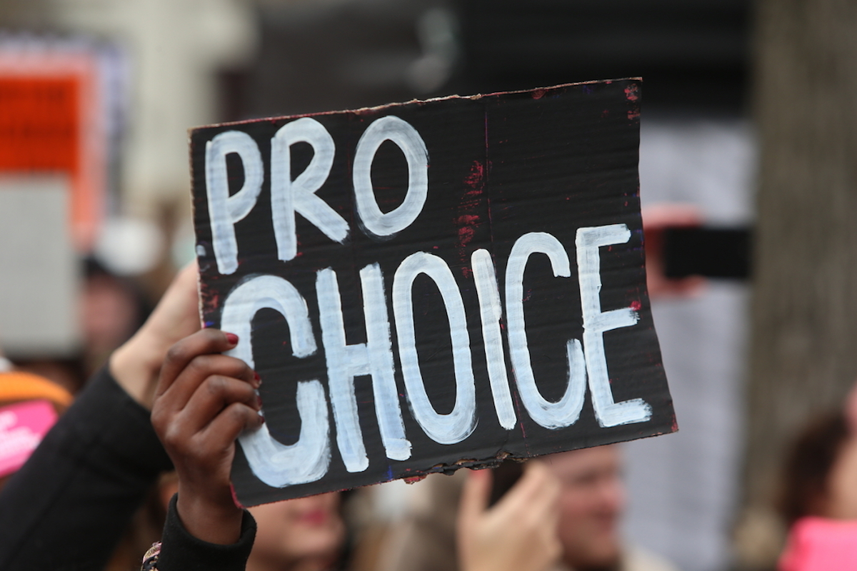 pro choice protest sign