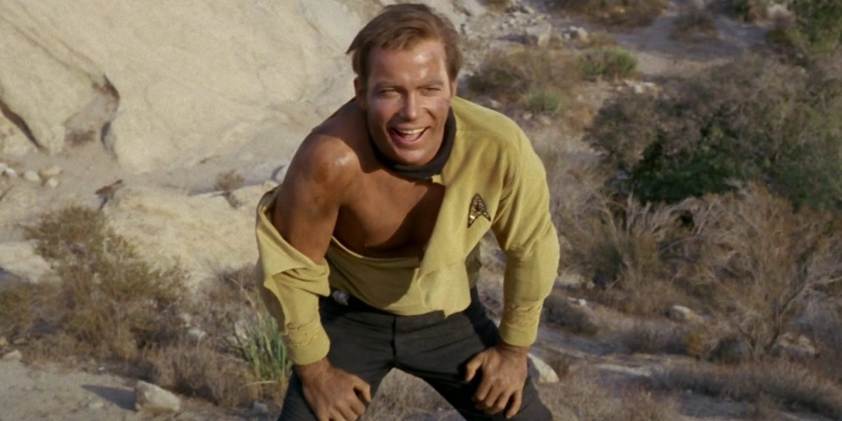 William Shatner as Jim Kirk in Star Trek