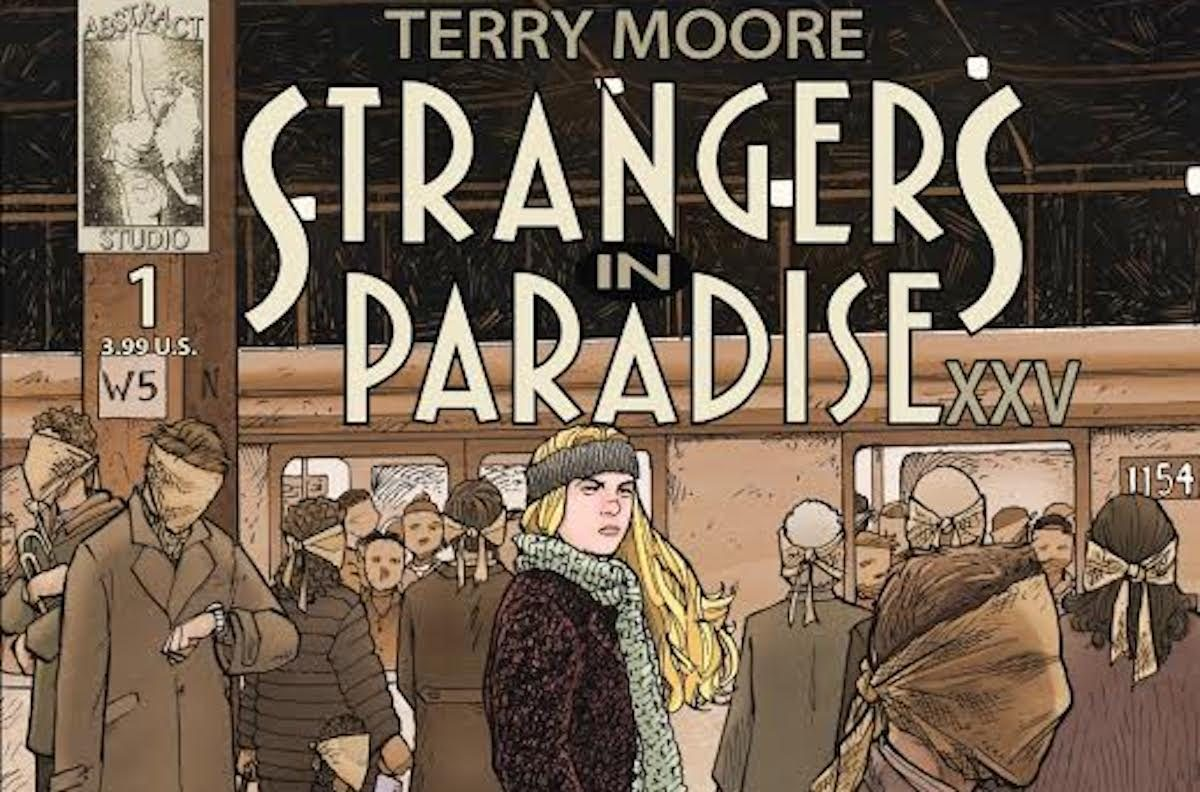 terry moore strangers in paradise xxv cover