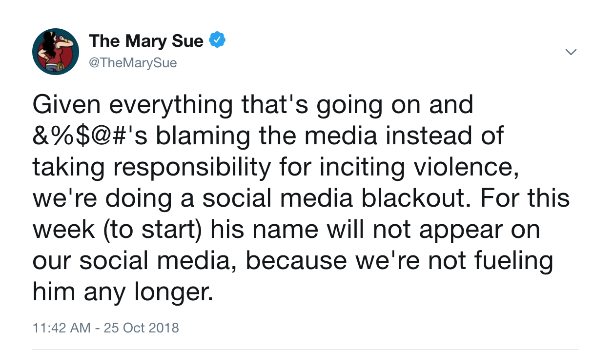 The Mary Sue In Instating A Donald Trump Social Media Blackout
