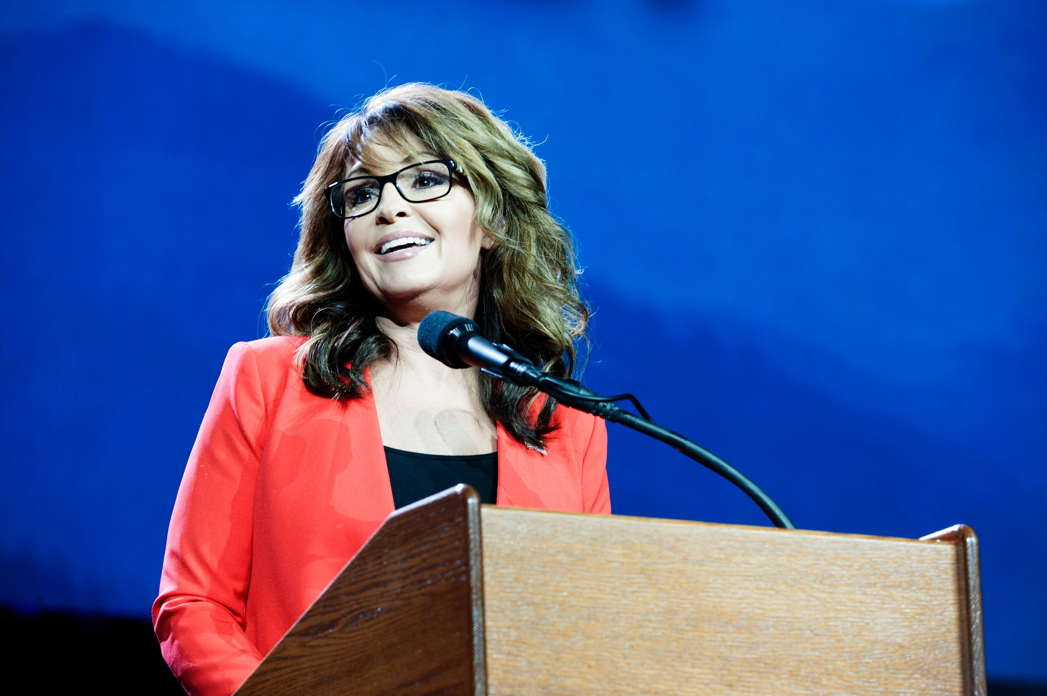 Sarah Palin attends a GOP conference
