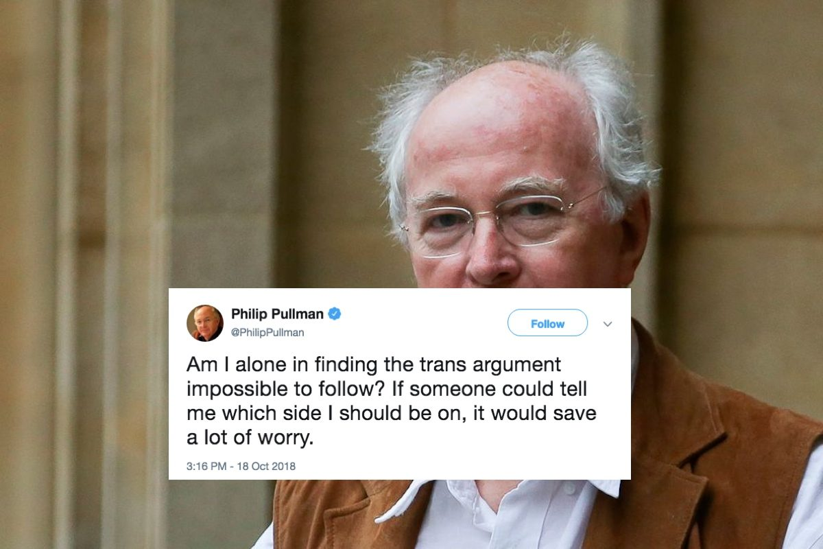 Philip Pullman is confused about trans people