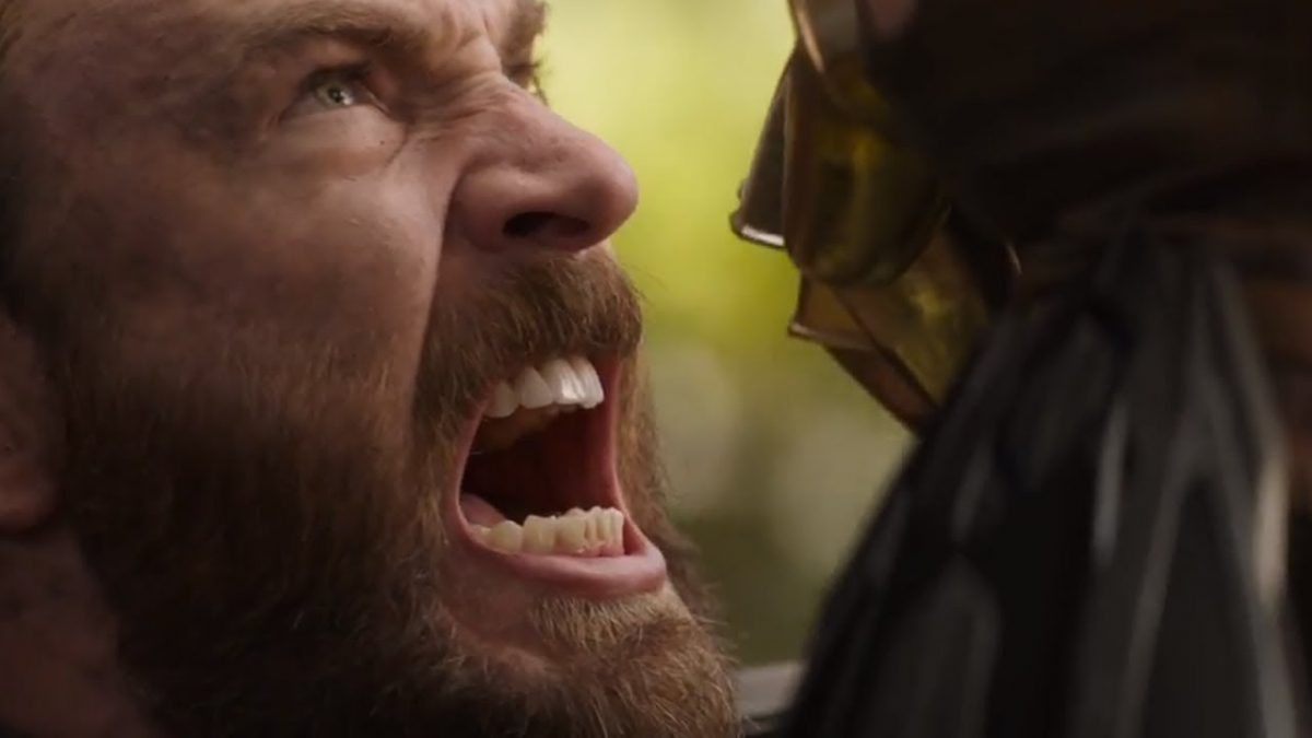 Captain America fights Thanos in Avengers Infinity War