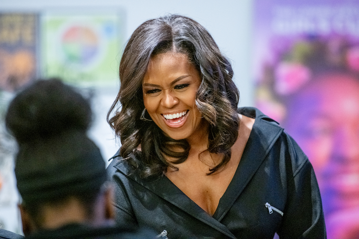 Michelle Obama, becoming, lean in, sandberg, shit, swear, brooklyn, book, tour