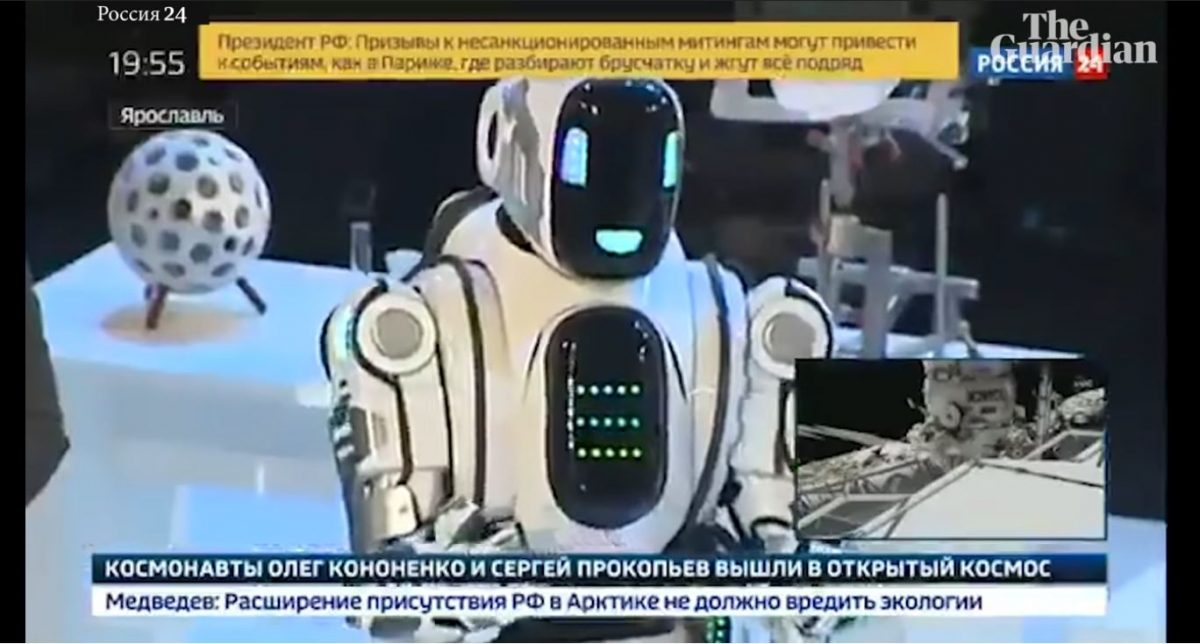 russian robot man in disguise
