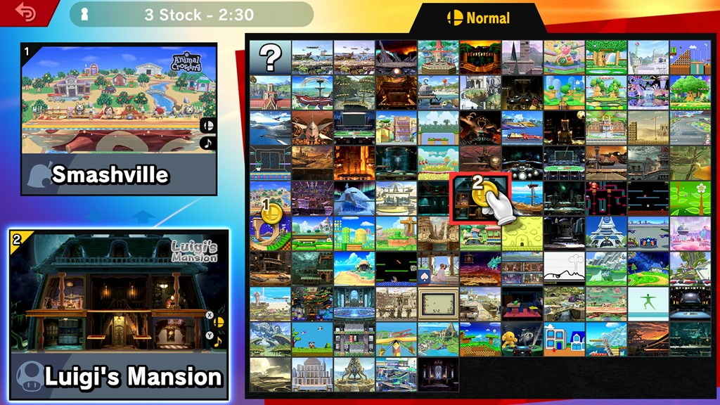 smash bros ultimate stage select screen