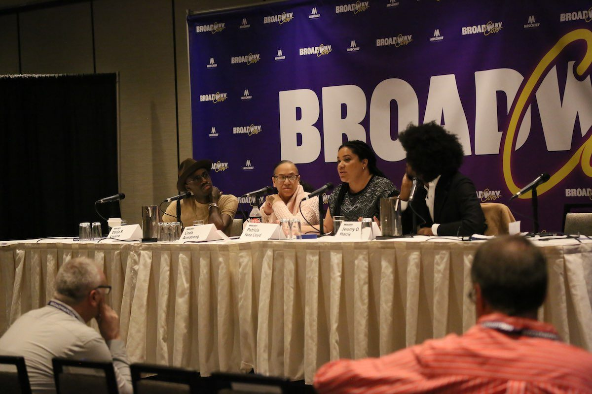 Moderator Linda Armstrong and playwrights Donja R. Love, Patricia Ione Lloyd, and Jeremy O. Harris discuss their challenges as Black LGBTQIA playwrights.