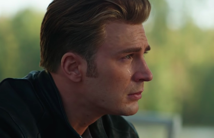 Chris Evans as Captain America cries a single tear in Marvel's Avengers: Endgame first trailer.