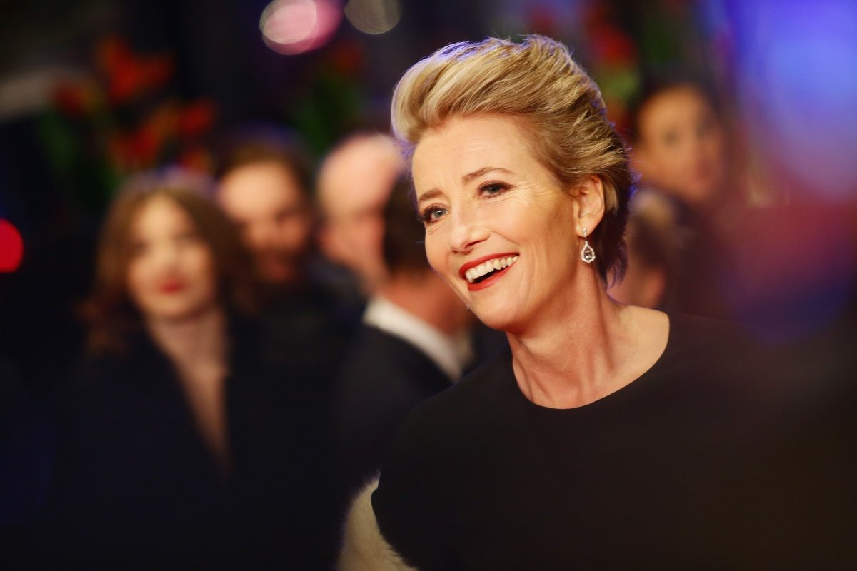 Emma Thompson attends the 'Alone in Berlin' (Jeder stirbt fuer sich) premiere during the 66th Berlinale International Film Festival Berlin at Berlinale Palace.