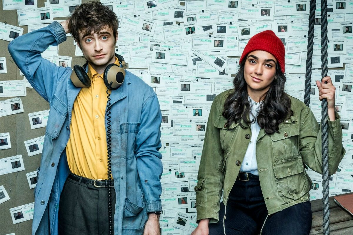 Daniel Radcliffe and Geraldine Viswanathan in Miracle Workers