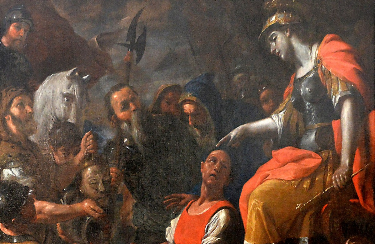 Queen Tomyris and the head of Cyrus the Great