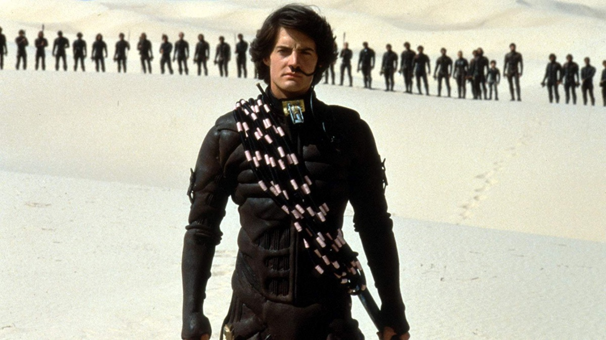 Dune film with Paul played by Kyle MacLachlan