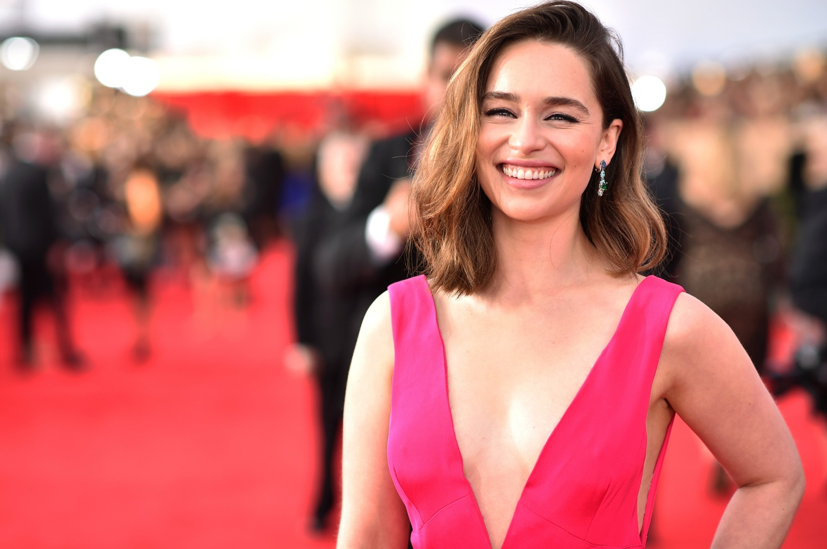 Actress Emilia Clarke attends The 22nd Annual Screen Actors Guild Awards at The Shrine Auditorium on January 30, 2016 in Los Angeles, California. 25650_013 (Photo by Dimitrios Kambouris/Getty Images for Turner)