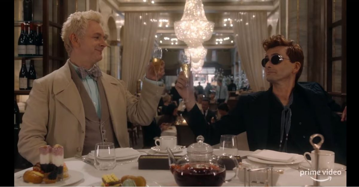 Michael Sheen and David Tennant play an angel and a demon in Amazon's Good Omens.
