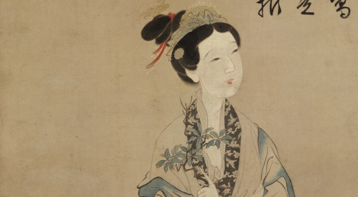 The painting The Moon Goddess Chang E, dated to the Ming dynasty