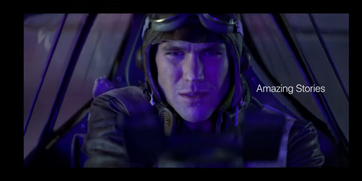 austin stowell plays a pilot in steven spielberg's amazing stories.