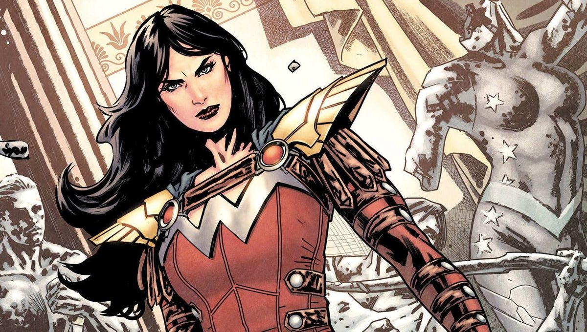 Donna Troy powers up as Wonder Girl in DC.
